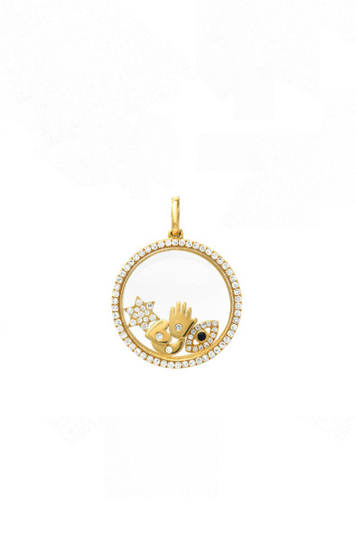 14k gold diamond small locket