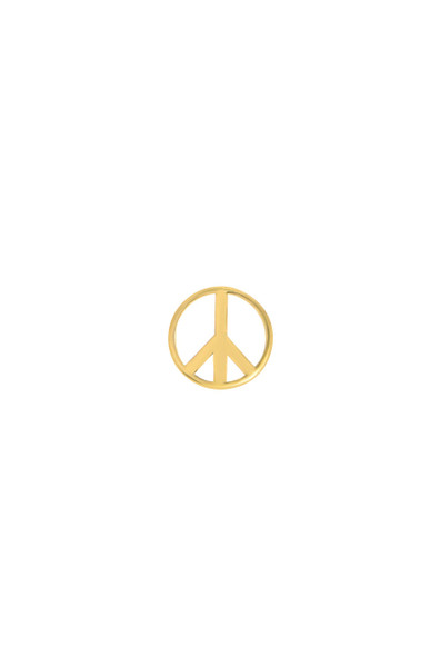 14k gold peace sign