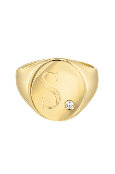 Signet ring with diamond