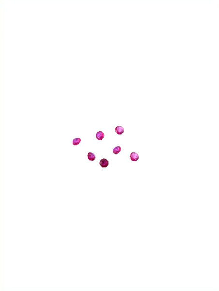 7 loose tiny pink sapphires