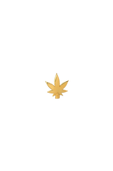 14k gold marijuana leaf