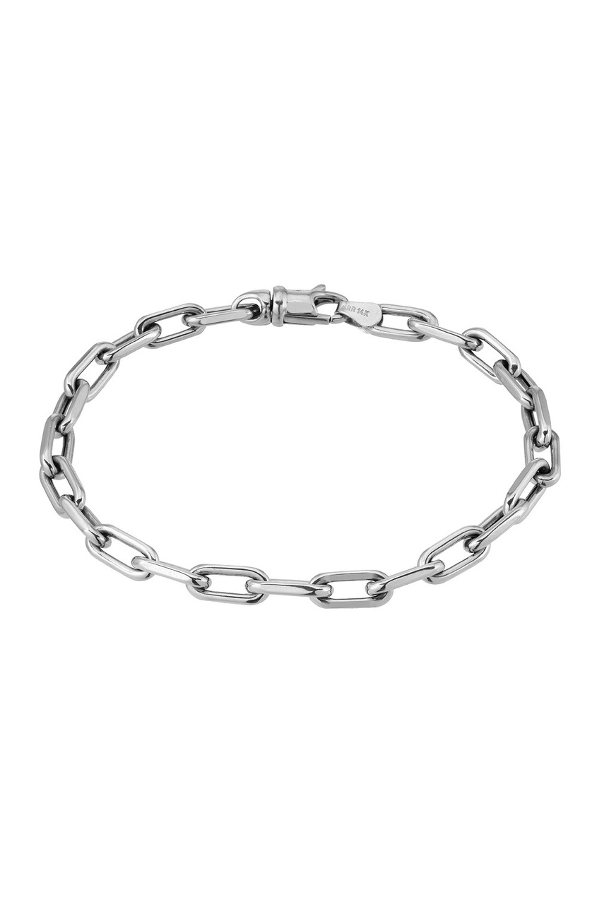 hammered white oval gold anklet link chain bracelet