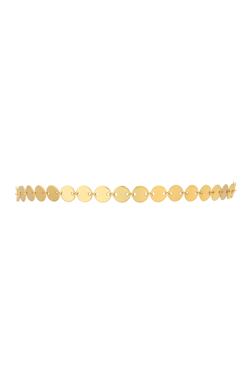 14k gold disc choker necklace Zoe Lev Jewelry
