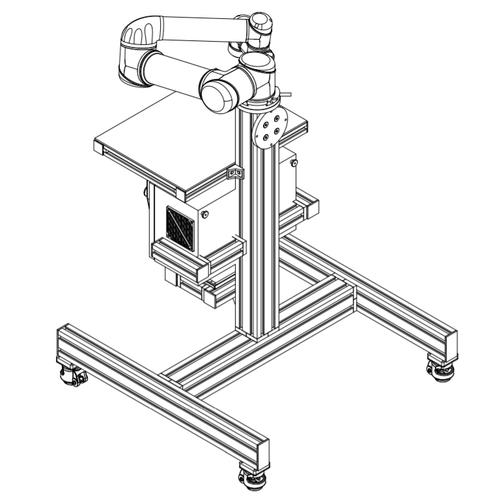 Universal Robots UR5 Modular Cart with Wheels