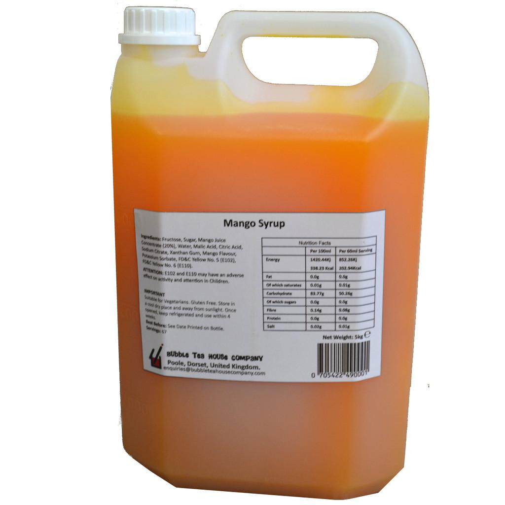 5kg (4L) Syrup for Bubble Tea - MANGO