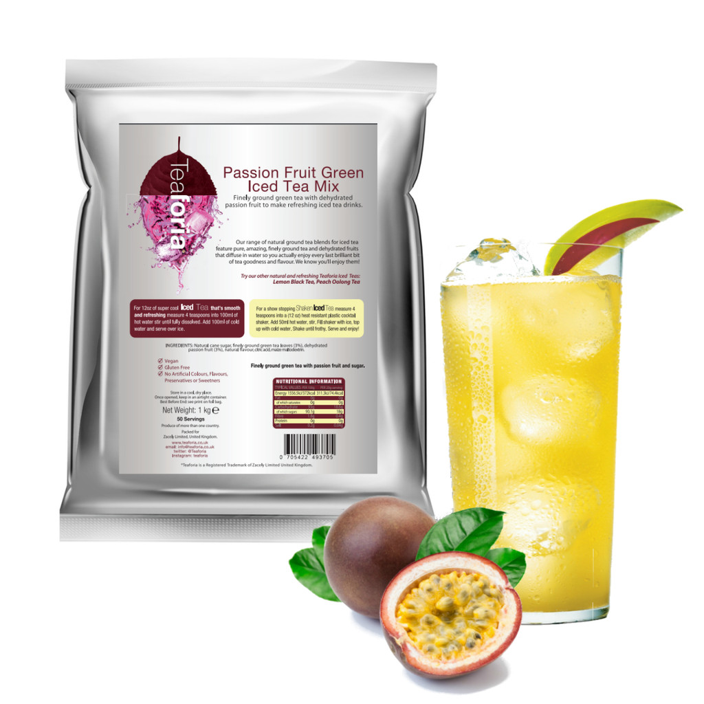 1kg PASSION FRUIT (Green) Iced Tea Mix - Teaforia
