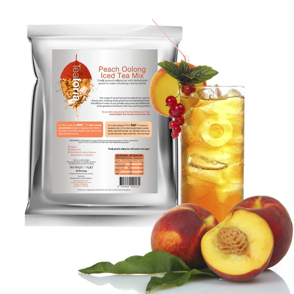 Teaforia Peach Iced Tea (Black Tea) for Catering