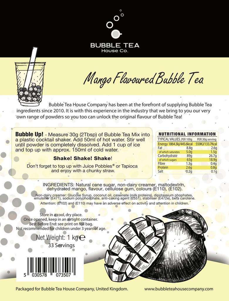 1kg MANGO Bubble Tea Powder (10 x 1kg units = £8.50/unit)