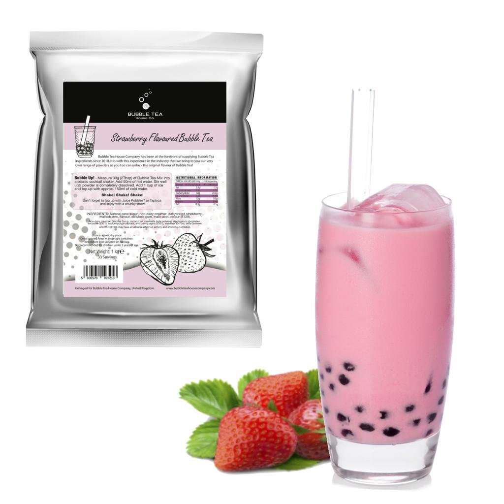 1kg STRAWBERRY Bubble Tea Powder (10 x 1kg units = £8.50/unit)