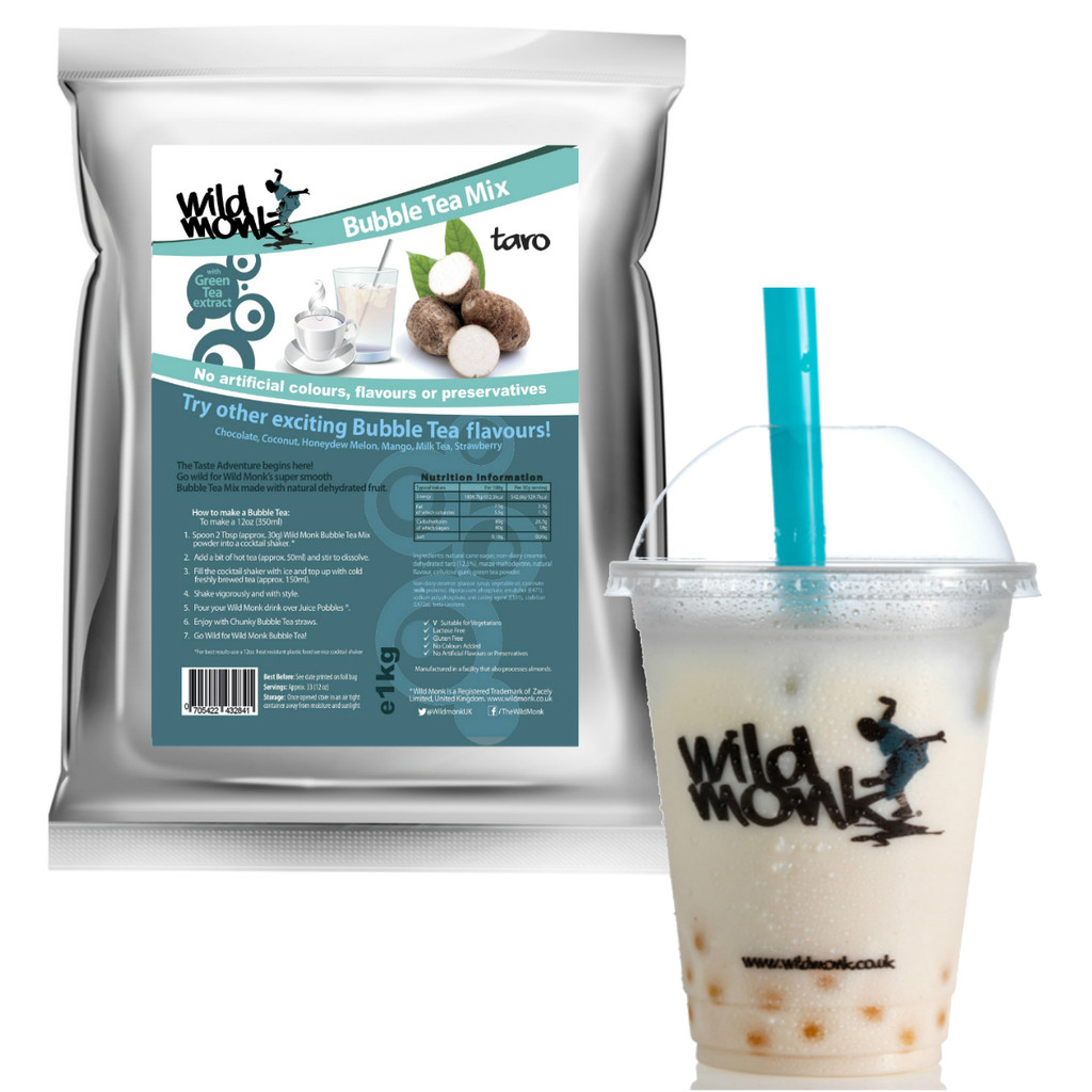 Taro Bubble Tea by Wild Monk (natural ingredients, no artificial colours)