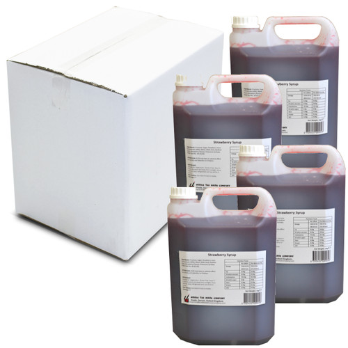 20kg (16L) Syrup for Bubble Tea - STRAWBERRY (Case of 4)