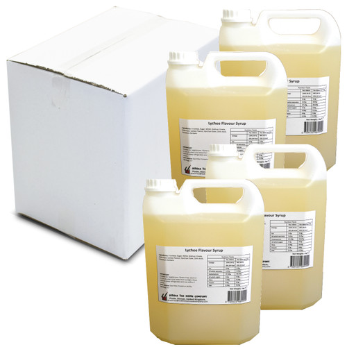 20kg (16L) Syrup for Bubble Tea - LYCHEE (Case of 4)