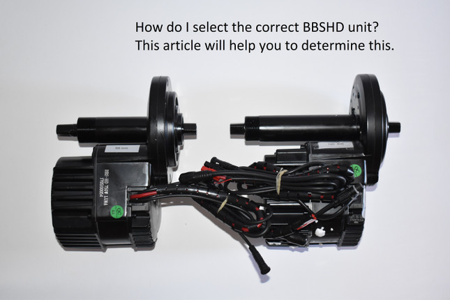 How do I order the Right BBSHD or 02 kit?