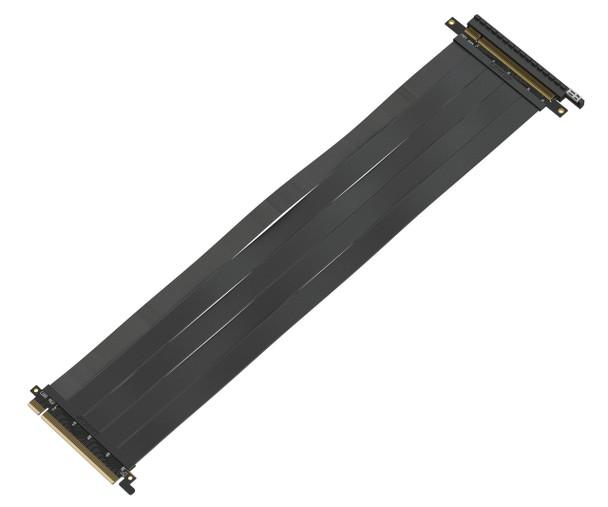 LINKUP [40 cm] 16x Riser Cable 64GB/s GPU Riser Extender - PCIE 3.0 (Future 4.0 Ready) Premium Shielded Twinaxial Technology | Black