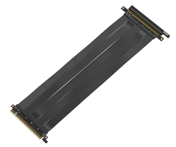 LINKUP [30 cm] 16x Riser Cable 64GB/s - PCIE 3.0 (Future 4.0 Ready) GPU VGA Extender Expansion - Premium Shielded Twinaxial Technology | Black | Straight Connector