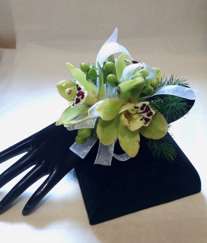 Cymbidium Orchid Wrist Corsage -Pick Up Only