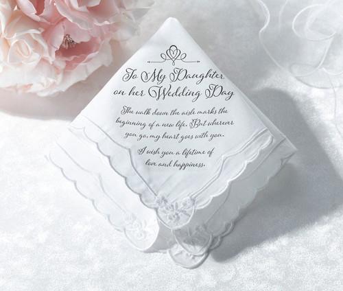 Wedding supplies wedding decorations bridal accessories for my daughter on her wedding handkerchief gift junglespirit Gallery