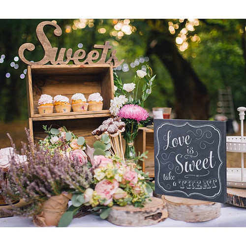 Wedding supplies wedding decorations bridal accessories love is sweet take a treat wedding sign junglespirit Image collections