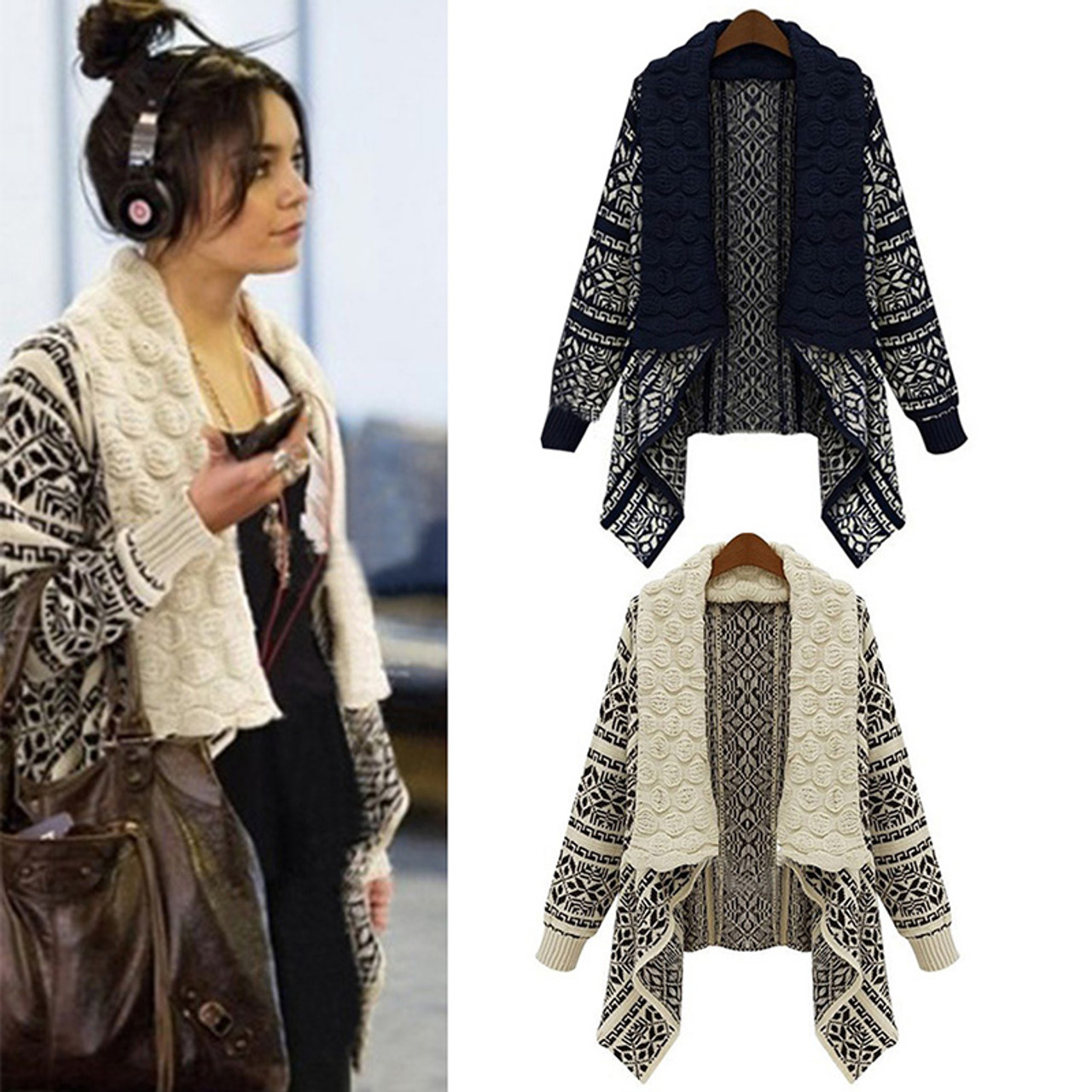 3808563484 Women s Long Sleeve Knitted Cardigan Sweater - Lit Product and Prices