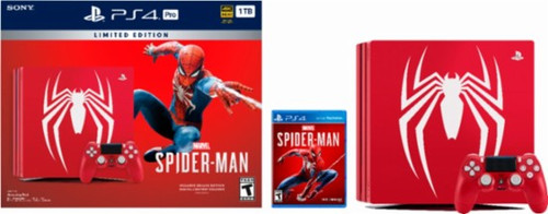 Sony - PlayStation 4 Pro 1TB Limited Edition Marvel's Spider-Man Console Bundle - Amazing Red