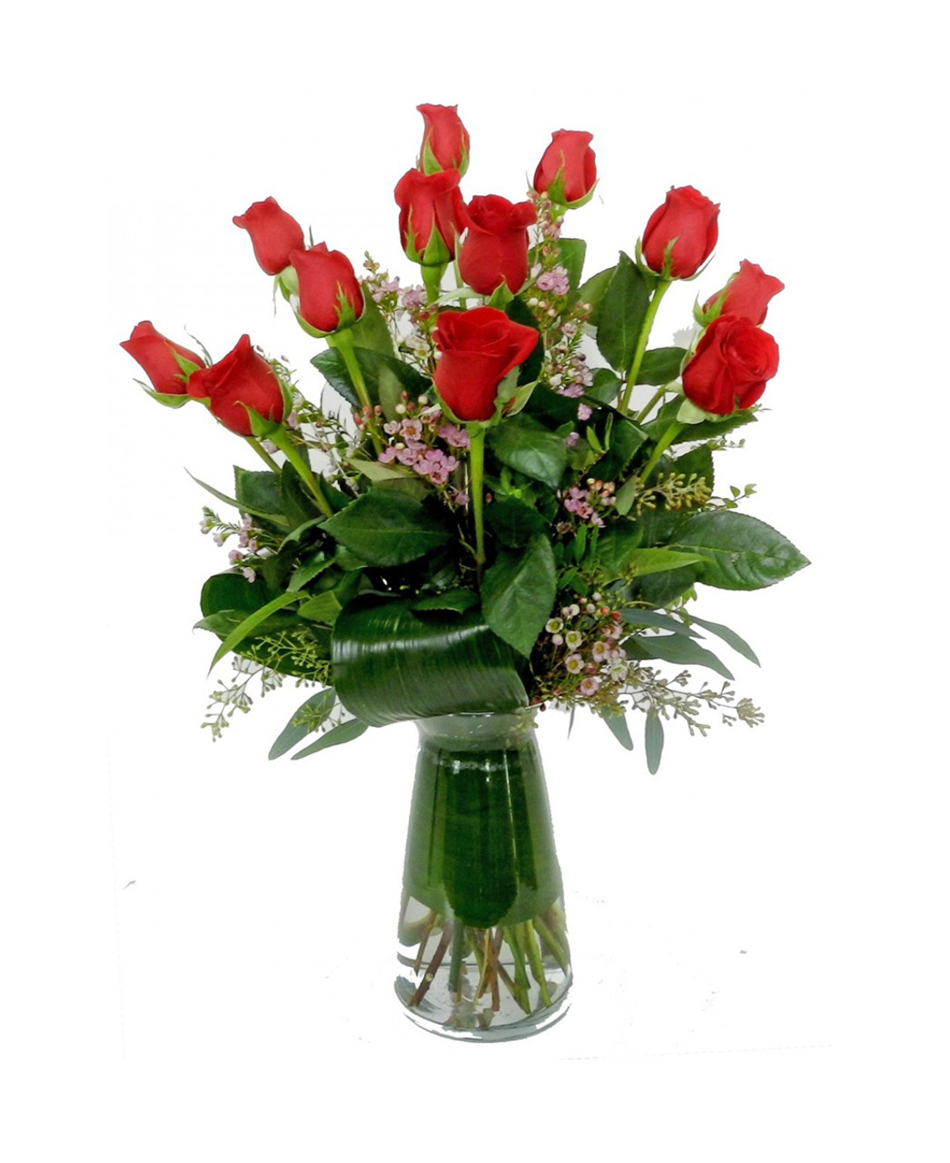Signature Dozen Rose Arrangement - Rose & Blossom - Spokane Florist ...