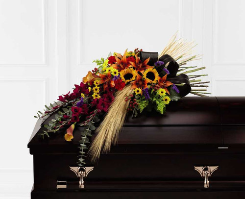 Glorious Garden Casket Spray Sympathy Flower Arrangement