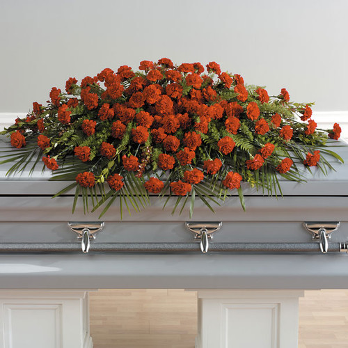 A Life Well Lived Casket Spray Sympathy Flower Arrangement