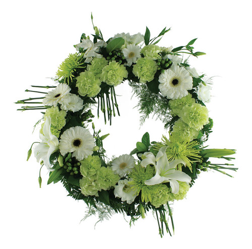 Green Garden Memorial Wreath