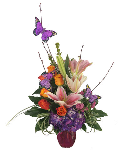 Butterfly Blossoms Bouquet