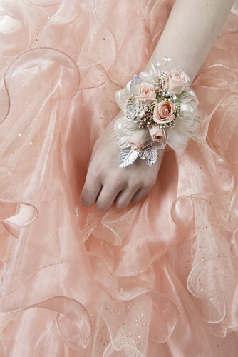 Peach Rose Wrist Corsage
