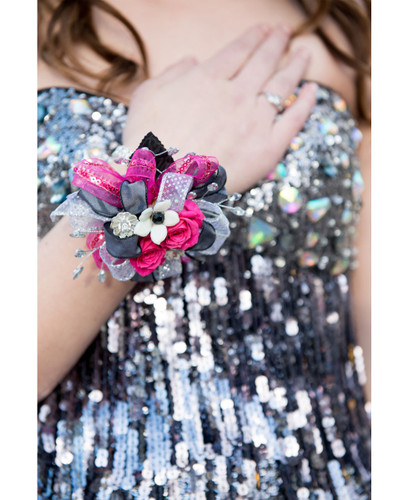 Glitz and Glam Wrist Corsage