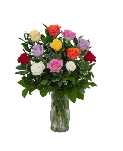 Assorted Color Dozen Roses
