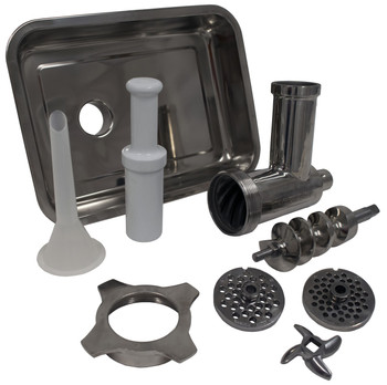 American Eagle AE-G22NH #22 Meat Grinder Attachment Kit Stainless Steel Fits #12 Hub Entire Kit Desassembled