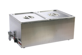 Pro Restaurant Equipment Bain Marie, Double Section, 2 Pans