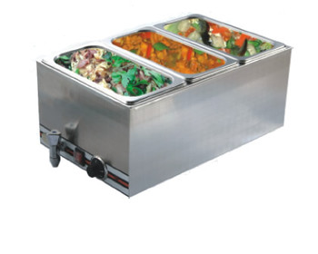 Pro Restaurant Equipment Bain Marie, Triple Section, 3 Pans
