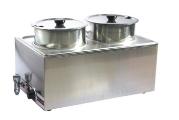 Pro Restaurant Equipment Double Soup Kettle Bain Marie, Dual Holder