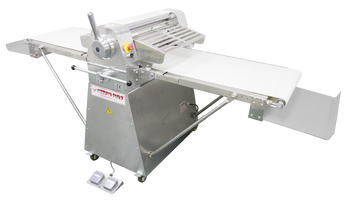 """American Eagle AE-DS65L-SS 1HP Stainless Steel Dough Sheeter Floor Type 25.5""""W x 118""""L, 220V/1Ph"""