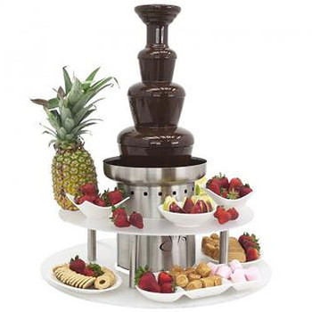 """Buffet Enhancements Chocolate Fountain Stainless Steel 3 Tier 27"""""""