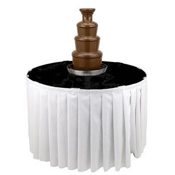 Buffet Enhancements Chocolate Fountain Table, Laminate Finish, 48 in Dia, Black