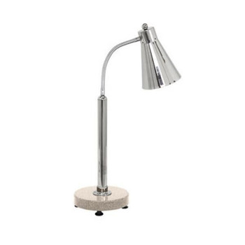 Buffet Enhancements Heat Lamp, freestanding stainless steel with sandstone chefstone base