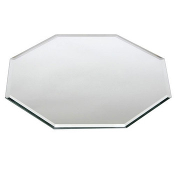 Buffet Enhancements Centerpiece Beveled Glass Mirror, Octagonal, 14""