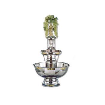 Buffet Enhancements Champagne Fountain, 7 Gal, SS, Silver Trim