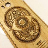 Custom Phone Cover Bamboo back panel