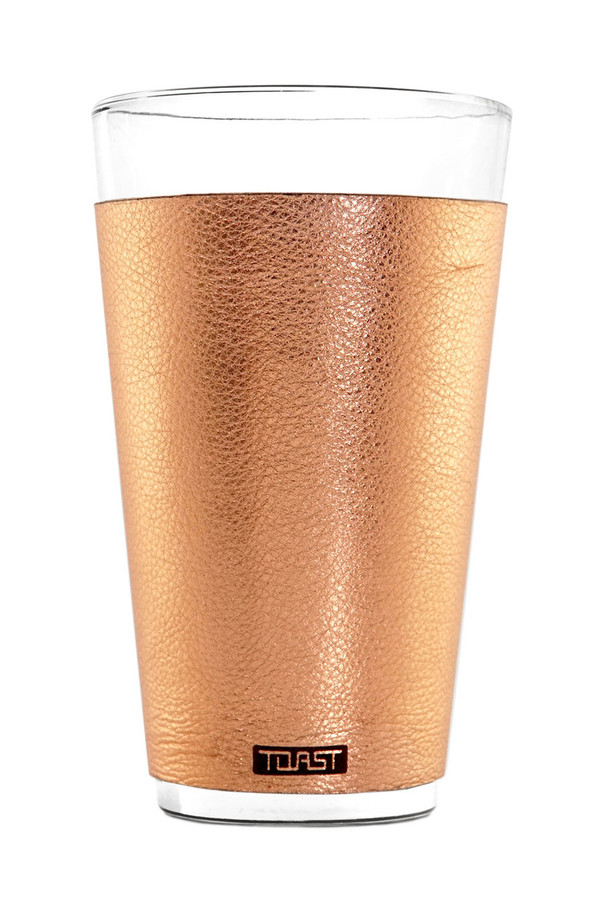 Leather-wrapped Pint Glasses