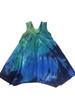 Girls trapeze dress with pockets- Sea