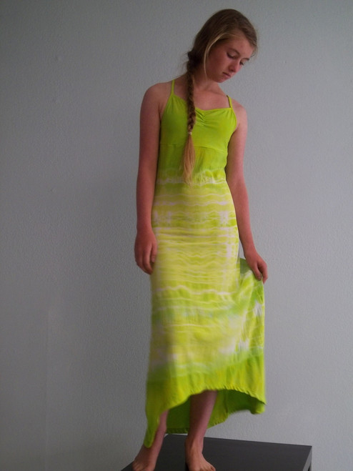 Girls cami maxi-lime bamboo