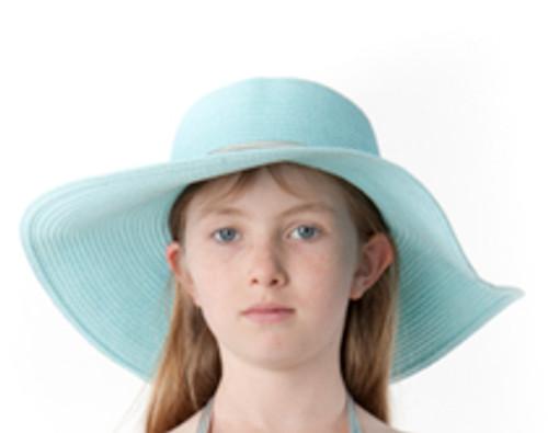 Girls Sun Hat-seafoam