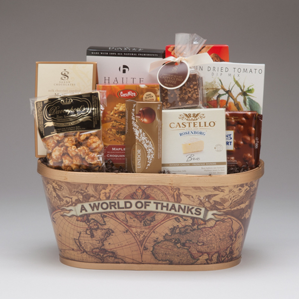 """This wonderful gift is the perfect mix of savoury & sweet and includes some of our favourites...Butter-Nut Crunch & CocoMira Maple Crunch (oh my!). This gift is sure to be enjoyed, and will communicate a very effective """"Thank-You"""" to all who receive it!"""