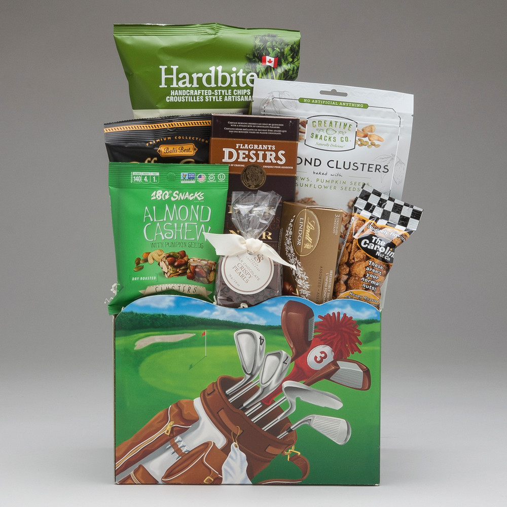 Perfect for men & women who are passionate about golfing, this gift basket blurs the line between yummy snacks and health-conscious food choices. (Trust us- they won't know just how good it is for them, because they will be loving every bite!) FORE!