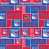 New York Rangers Greek Letter Apparel fabric